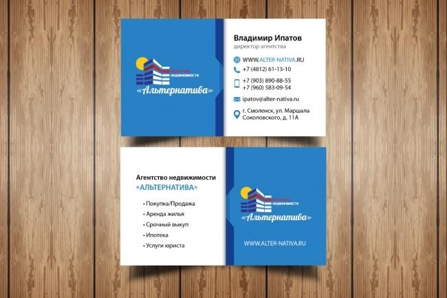 Разработаю макет визитки 75 - kwork.ru
