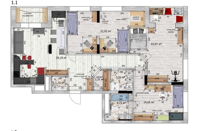 Интересные планировки квартир 40 - kwork.ru