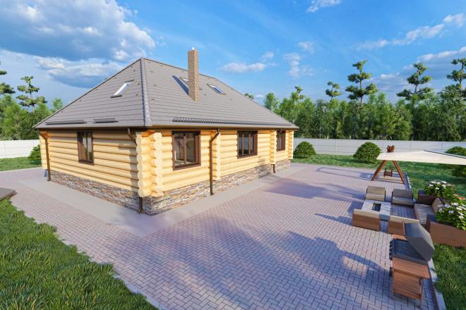 Фотореалистичная 3D визуализация экстерьера Вашего дома 91 - kwork.ru