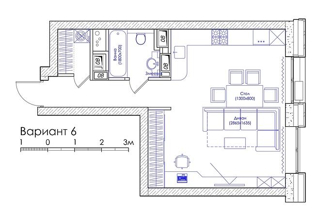 Планировка квартиры или жилого дома, перепланировка и визуализация 23 - kwork.ru