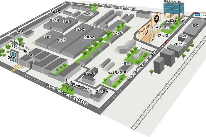 Карты и схемы проезда 23 - kwork.ru