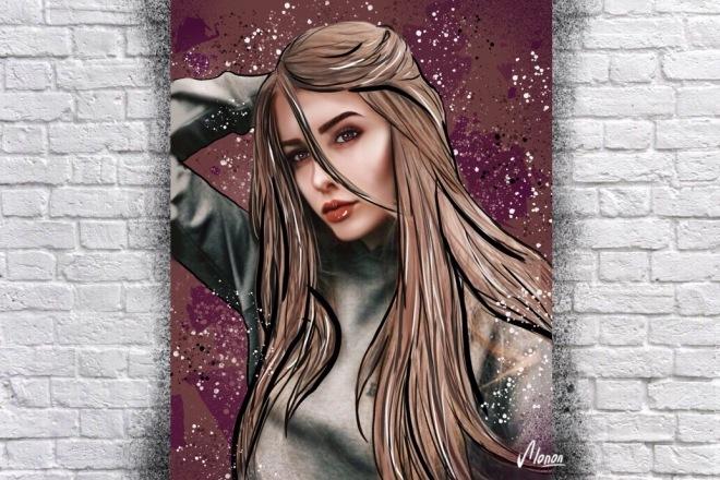 Портрет в стиле Дрим Арт по вашей фотографии 3 - kwork.ru