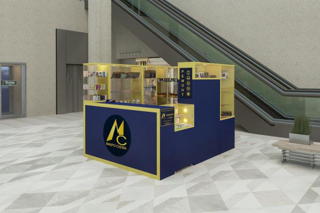 3D моделинг и визуализация торгового острова 1 - kwork.ru