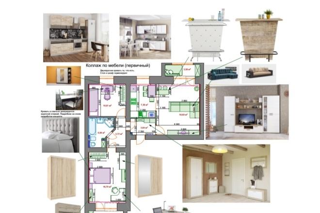 Планировочные решения. Планировка с мебелью и перепланировка 36 - kwork.ru