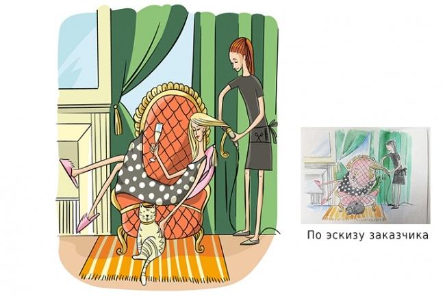 Нарисую иллюстрацию с одним персонажем 21 - kwork.ru