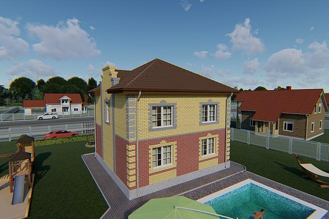 Фотореалистичная 3D визуализация экстерьера Вашего дома 165 - kwork.ru