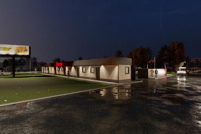 Фотореалистичная 3D визуализация экстерьера Вашего дома 83 - kwork.ru