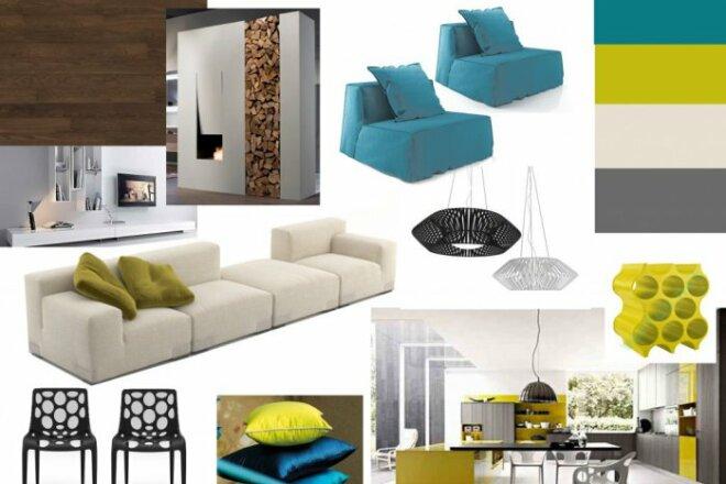 Дизайн интерьера. Консультация, план мебели, коллаж 1 - kwork.ru