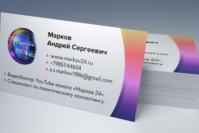 Дизайн визитки, исходники для печати бесплатно 11 - kwork.ru