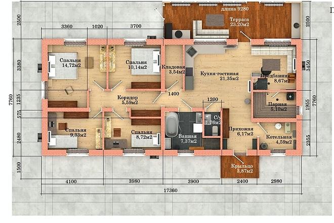 Создам планировку дома, квартиры с мебелью 50 - kwork.ru