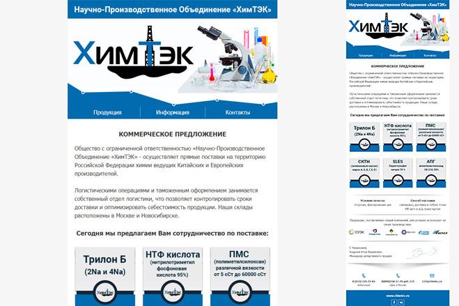 Дизайн и верстка адаптивного html письма для e-mail рассылки 70 - kwork.ru