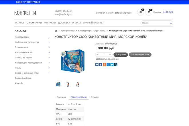 Профессионально создам интернет-магазин на insales + 20 дней бесплатно 71 - kwork.ru