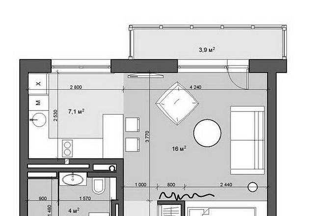 Интересные планировки квартир 64 - kwork.ru