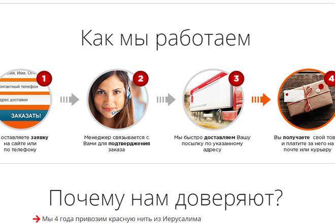 Качественная копия лендинга с установкой панели редактора 60 - kwork.ru