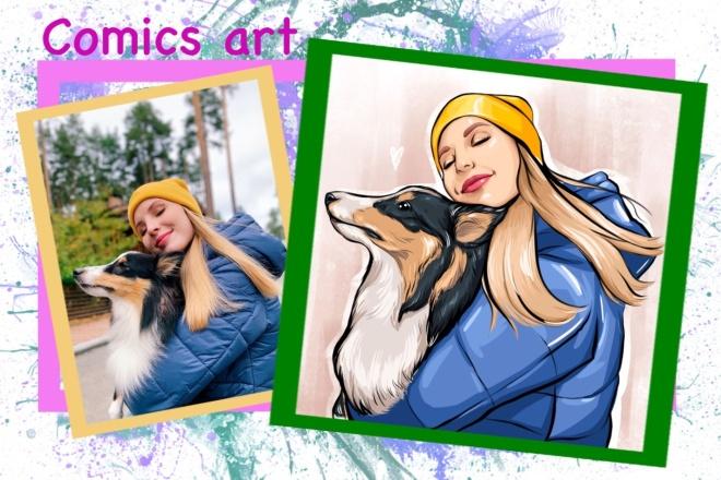 Нарисую портрет в стиле Pop Art,Comics Art, Stik Art 19 - kwork.ru