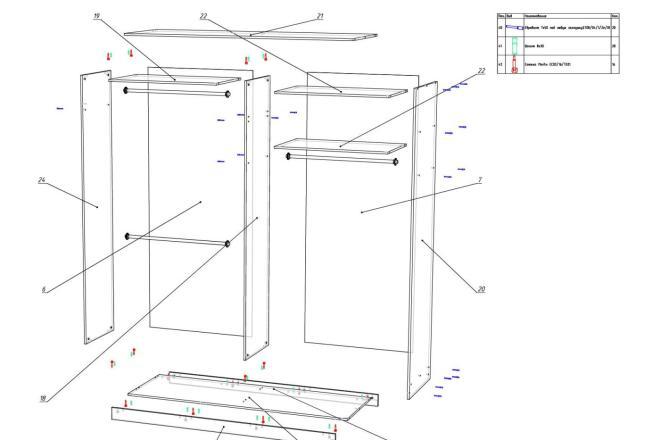 Конструкторская документация для изготовления мебели 29 - kwork.ru