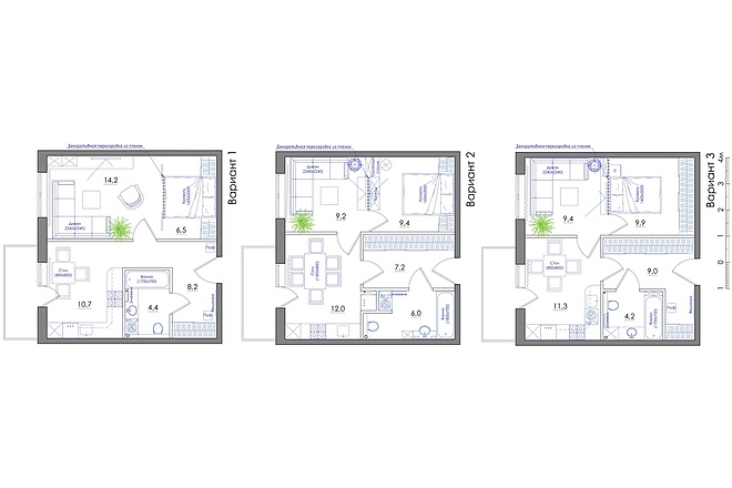 Планировка квартиры или жилого дома, перепланировка и визуализация 48 - kwork.ru