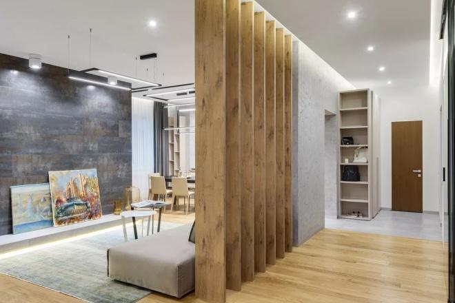 500 идей использования деревянных реек, баффели в интерьере 9 - kwork.ru