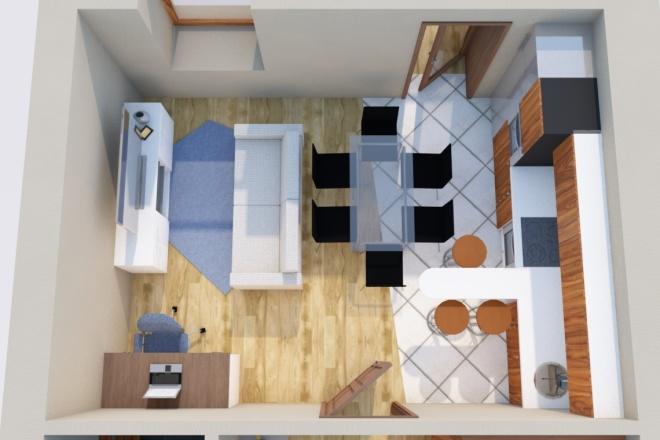 Создам планировку дома, квартиры с мебелью 26 - kwork.ru