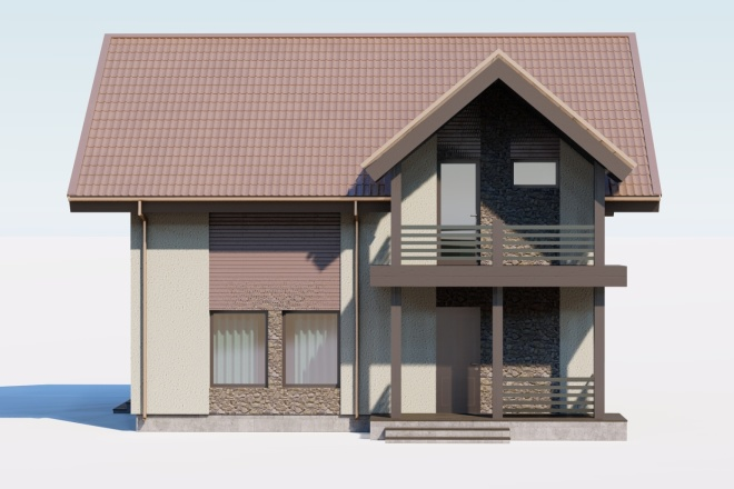3д моделирование и визуализация экстерьеров домов 12 - kwork.ru