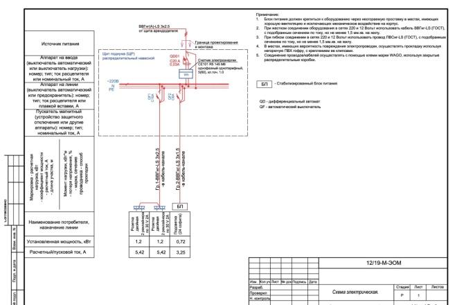 Выполню однолинейную схему электроснабжения 20 - kwork.ru