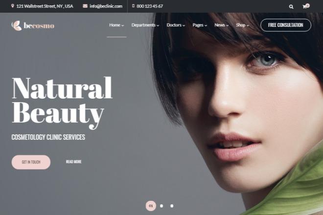 Многоцелевая медицинская красивая тема на WordPress 4 - kwork.ru