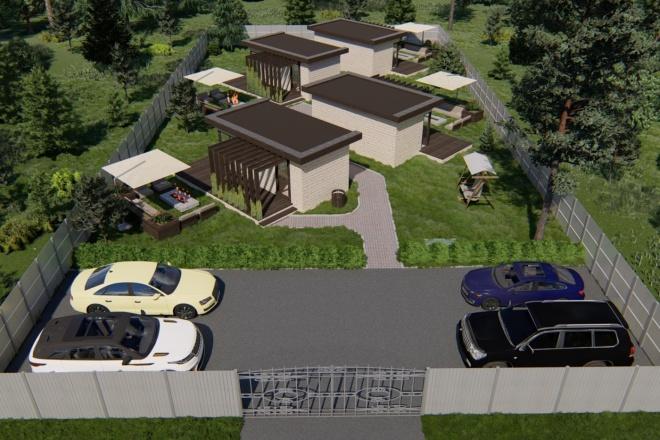 Фотореалистичная 3D визуализация экстерьера Вашего дома 184 - kwork.ru