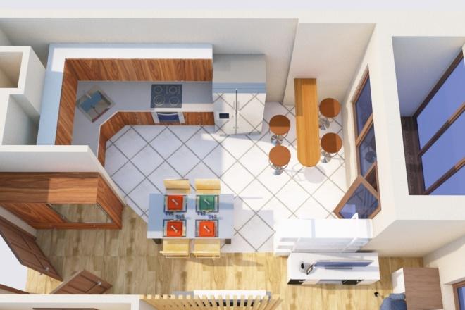 Создам планировку дома, квартиры с мебелью 35 - kwork.ru