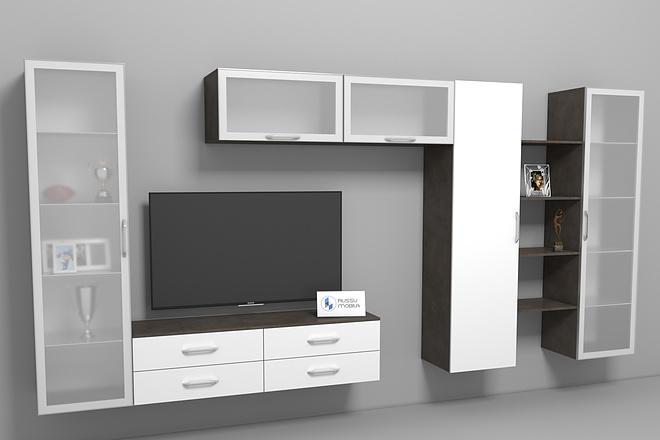 Визуализация мебели, предметная, в интерьере 7 - kwork.ru