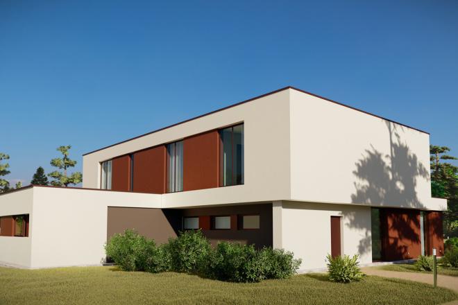 3д моделирование и визуализация экстерьеров домов 20 - kwork.ru