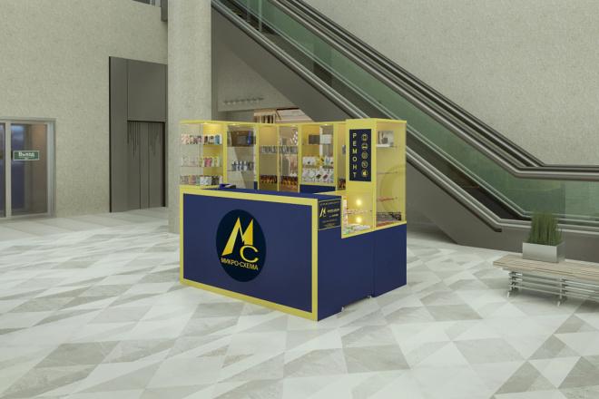 3D моделинг и визуализация торгового острова 6 - kwork.ru