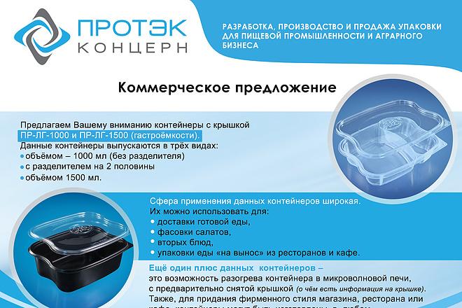 Яркий дизайн коммерческого предложения КП. Премиум дизайн 80 - kwork.ru