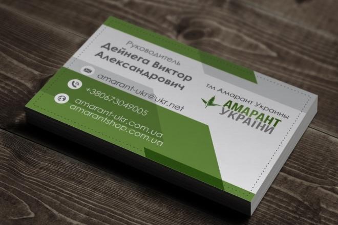 Разработаю красивый, уникальный дизайн визитки в современном стиле 115 - kwork.ru