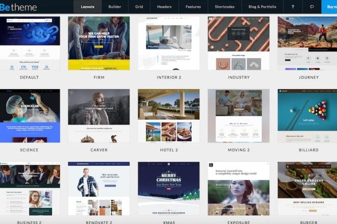 Новые премиум шаблоны Wordpress 10 - kwork.ru