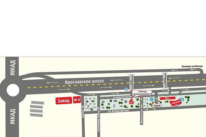 Карты и схемы проезда 12 - kwork.ru