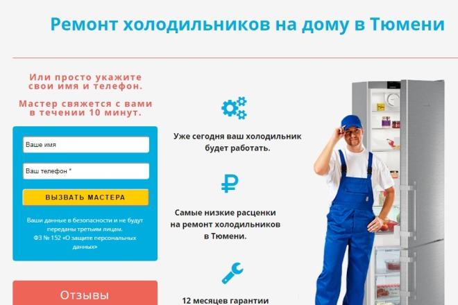 Качественная копия лендинга с установкой панели редактора 95 - kwork.ru