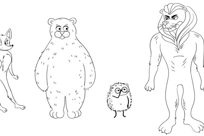 Нарисую мультяшных персонажей 10 - kwork.ru