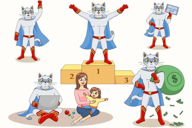 Нарисую мультяшных персонажей 4 - kwork.ru