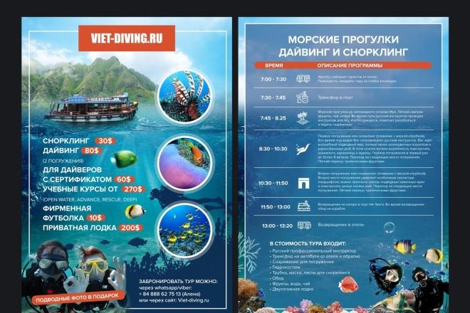 Изготовление дизайна листовки, флаера 66 - kwork.ru