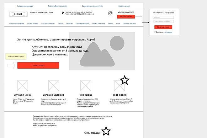 Прототип + текст лендинга 22 - kwork.ru