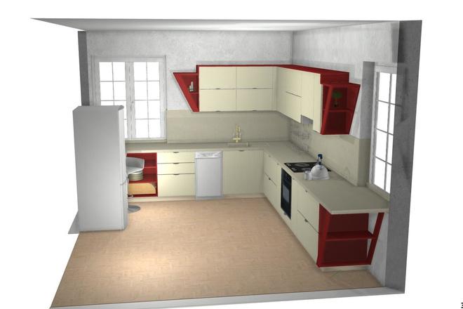 Создам 3D дизайн-проект кухни вашей мечты 15 - kwork.ru