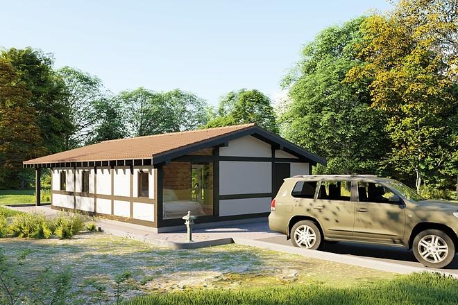 Фотореалистичная 3D визуализация экстерьера Вашего дома 174 - kwork.ru