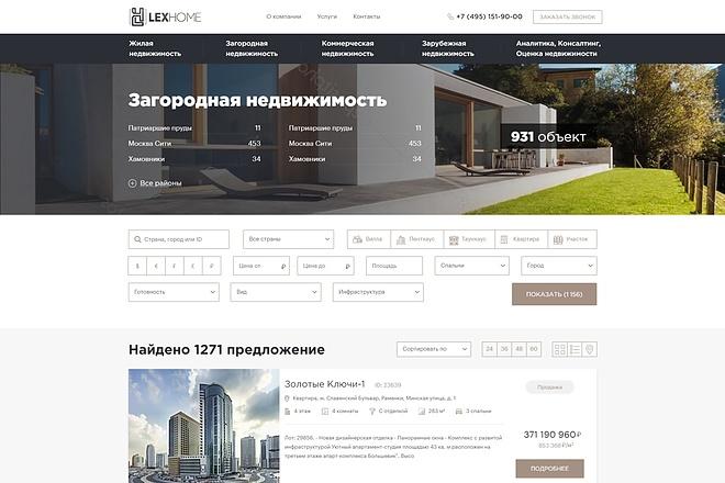 Адаптивная верстка сайта по дизайн макету 20 - kwork.ru