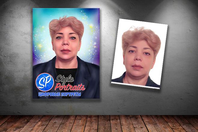 Цифровой портрет 19 - kwork.ru