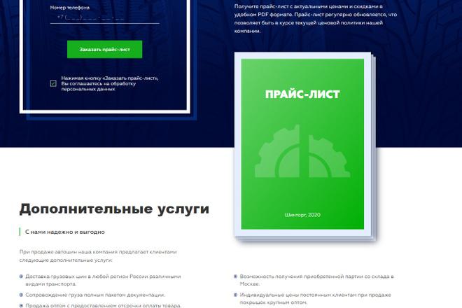 Сайт под ключ. Landing Page. Backend 64 - kwork.ru