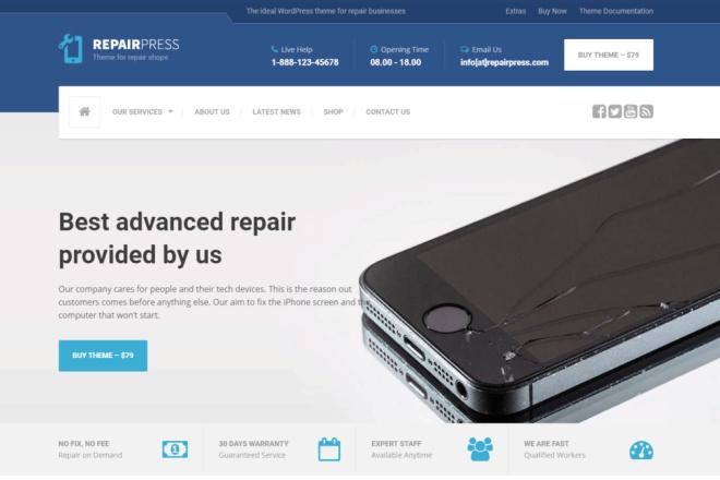 Тема RepairPress с плагинами для WordPress на русском с обновлениями 16 - kwork.ru
