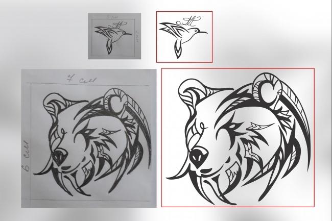 Отрисовка в векторе, формат Coreldraw, по рисунку, фото, сканированию 94 - kwork.ru