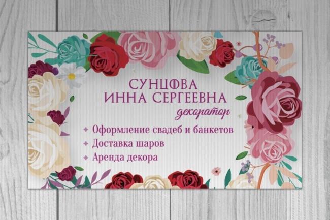 Дизайн визитки для вашего бренда 1 - kwork.ru
