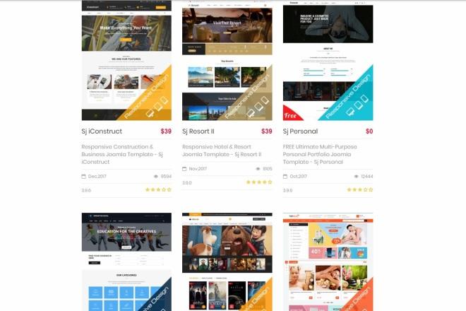 Joomla премиум набор шаблонов и расширений 5 - kwork.ru