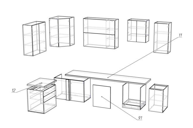 Конструкторская документация для изготовления мебели 47 - kwork.ru